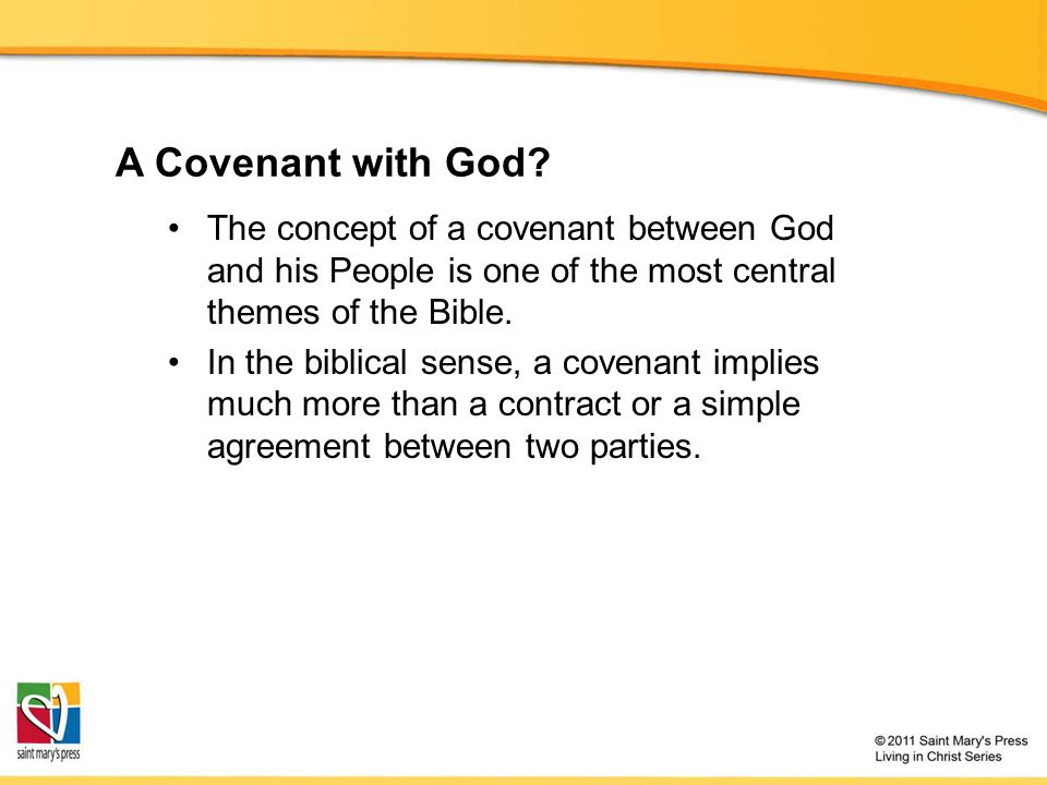 A Covenant with God.