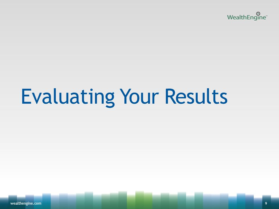 9wealthengine.com Evaluating Your Results