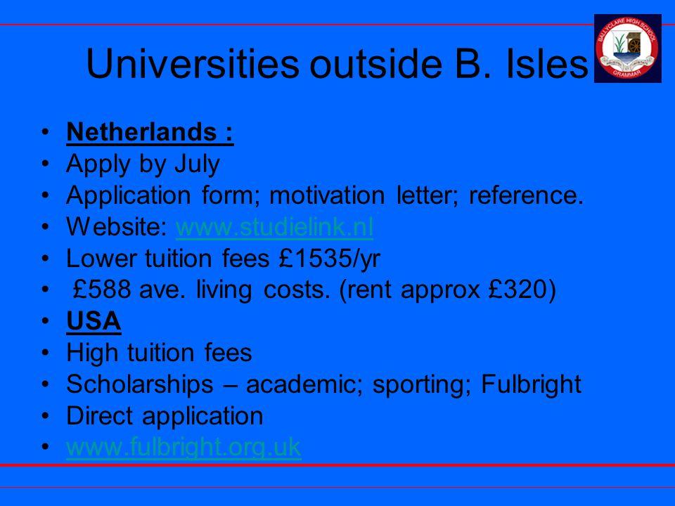 Universities outside B.