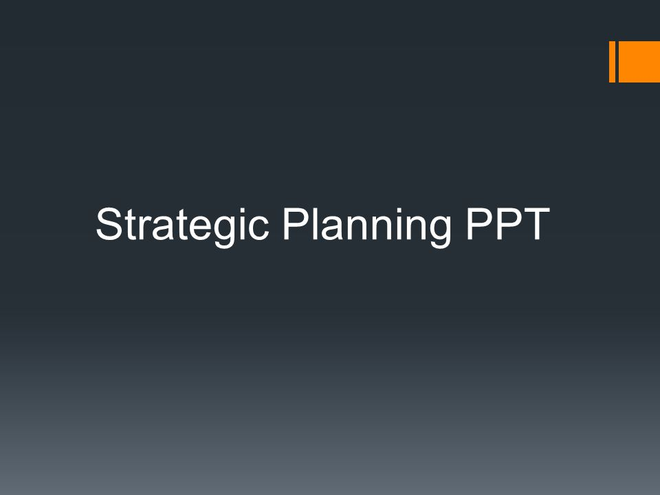 Strategic Planning PPT