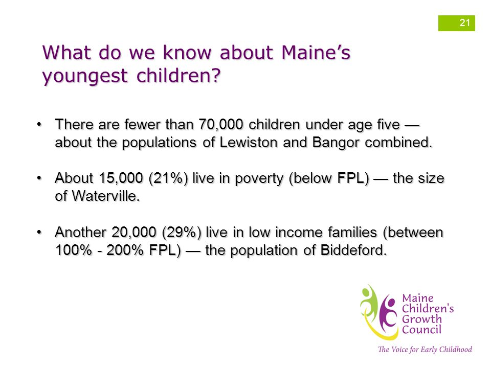 What do we know about Maine's youngest children.