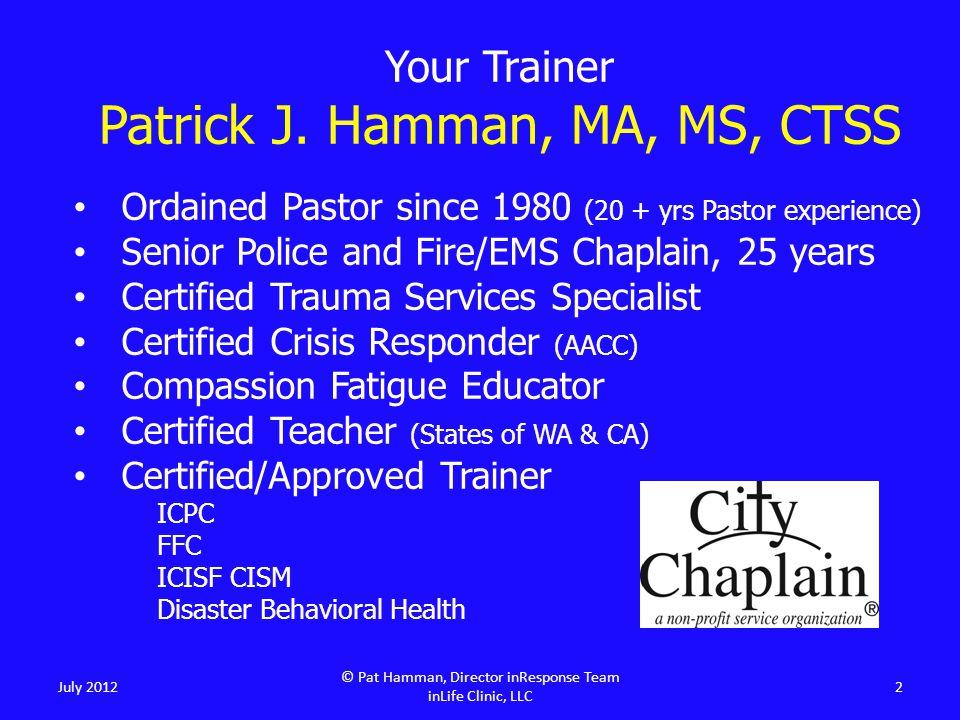 Your Trainer Patrick J.