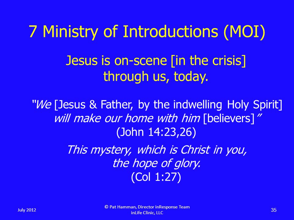 Jesus is on-scene [in the crisis] through us, today.