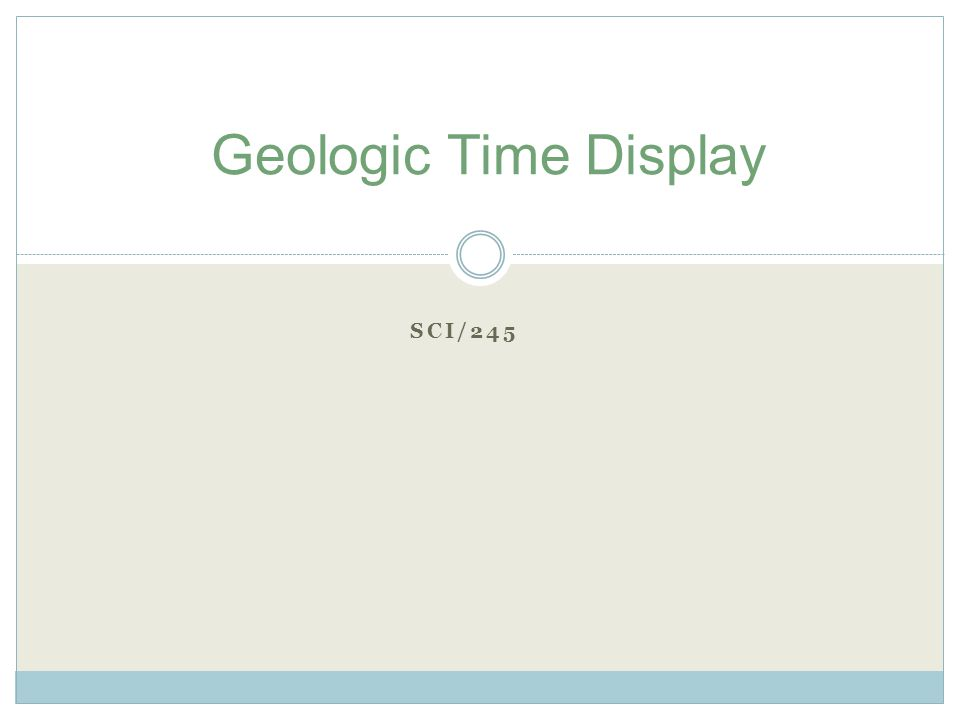 SCI/245 Geologic Time Display
