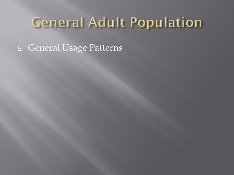  General Usage Patterns
