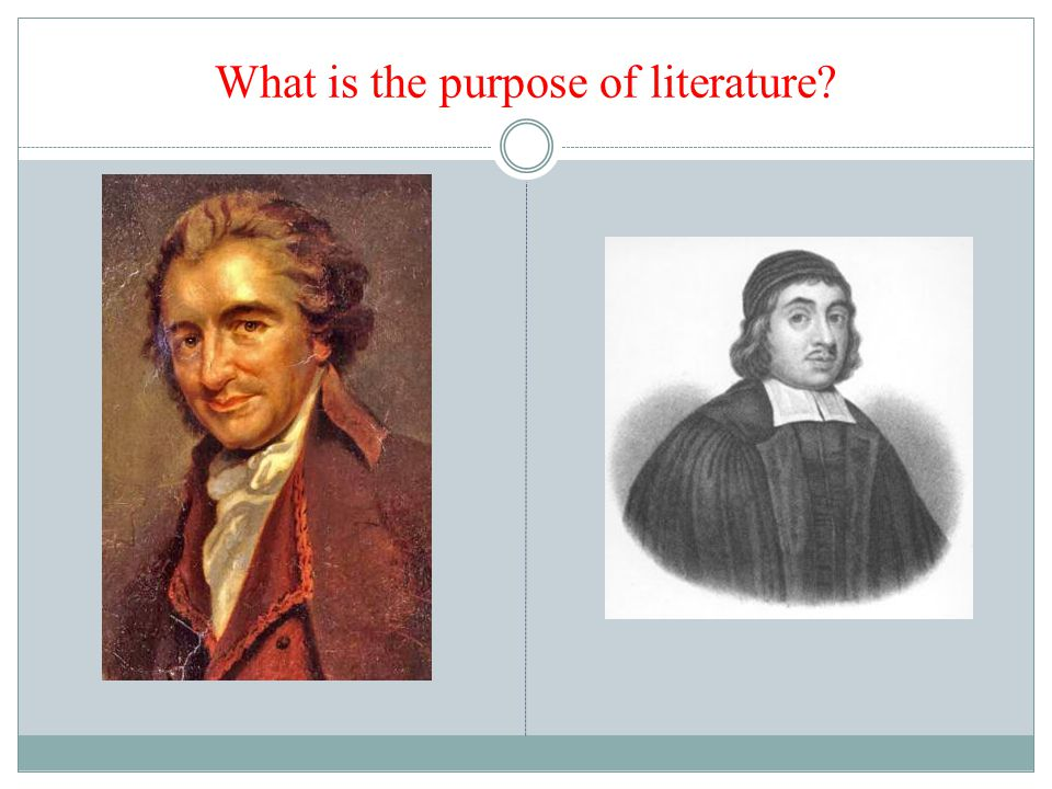 What is the purpose of literature