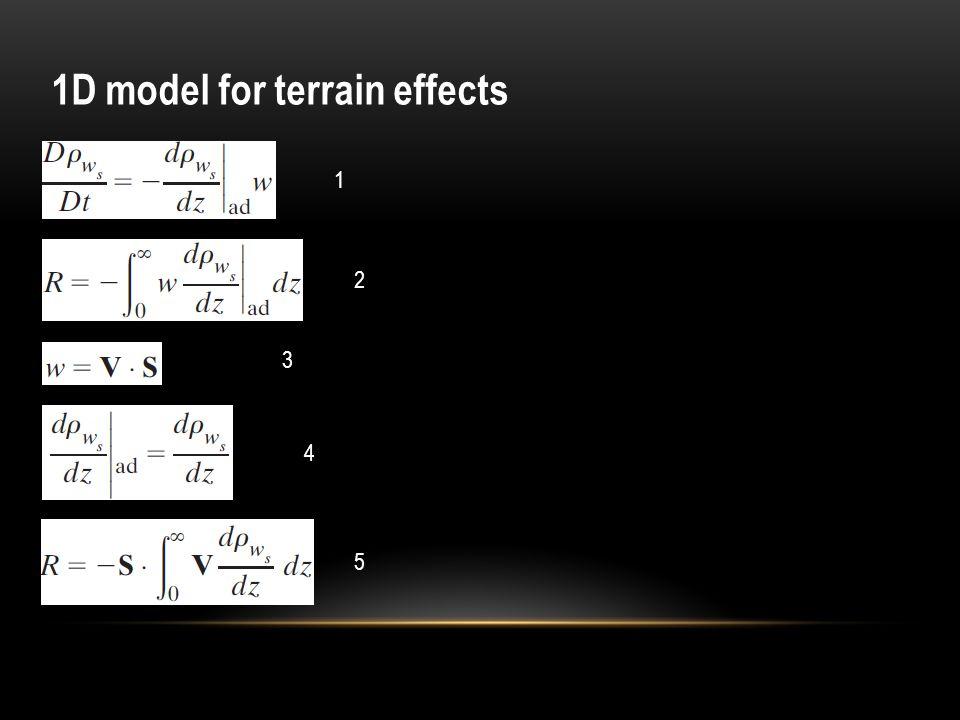 1D model for terrain effects 3 2 1 4 5