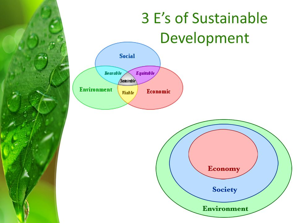 3 E's of Sustainable Development