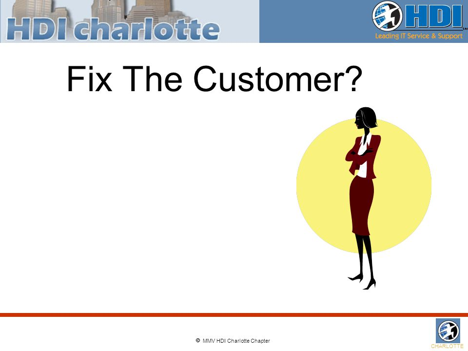  MMV HDI Charlotte Chapter CHARLOTTE Fix The Customer
