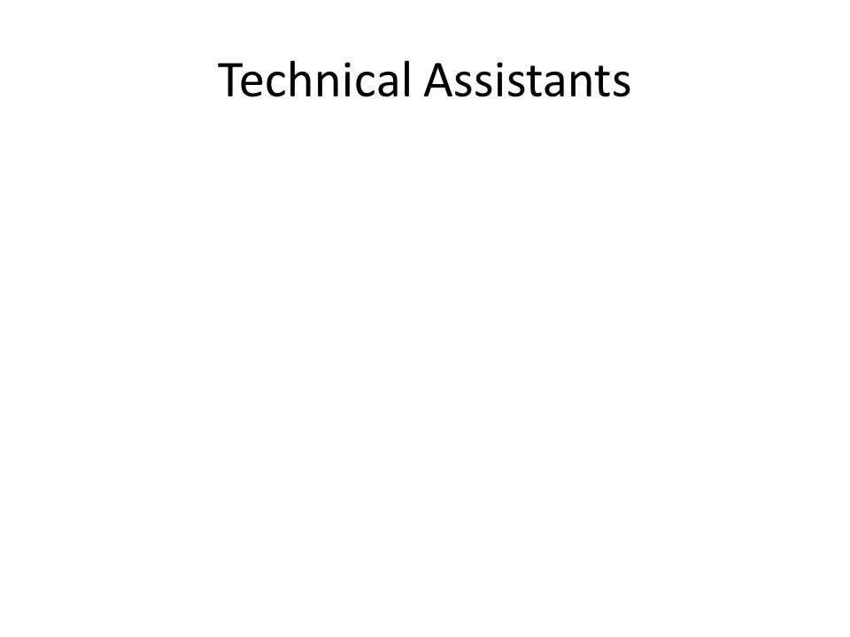 Technical Assistants