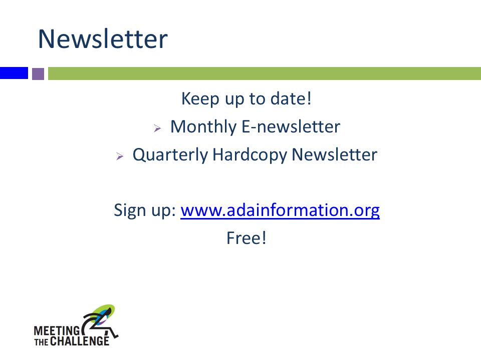 Newsletter Keep up to date.