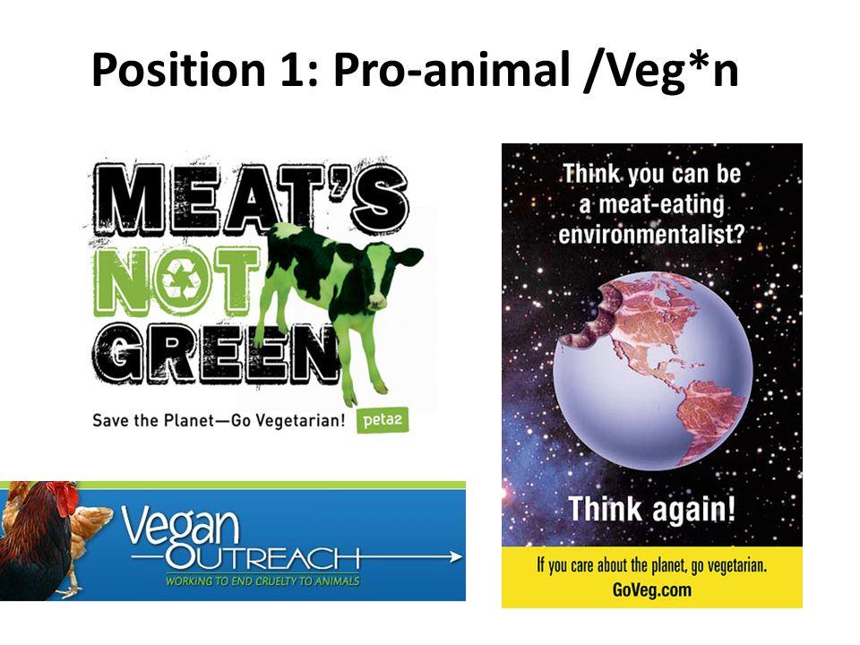 Position 1: Pro-animal /Veg*n