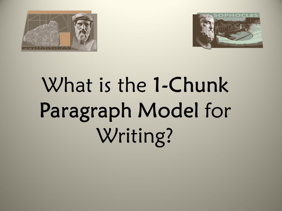 What is the 1-Chunk Paragraph Model for Writing?