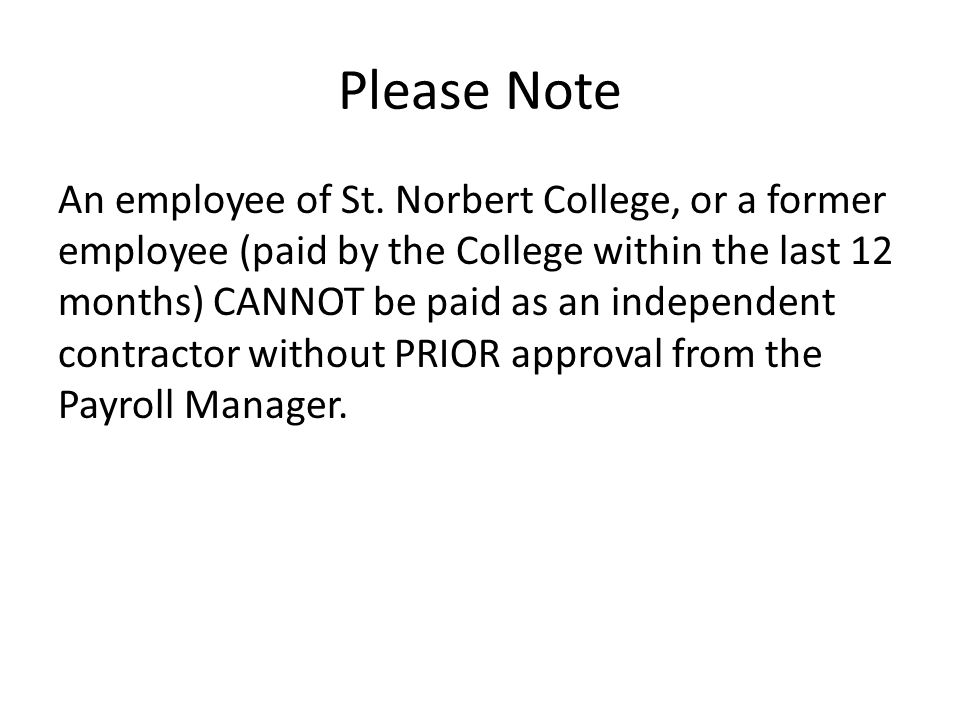 Please Note An employee of St.