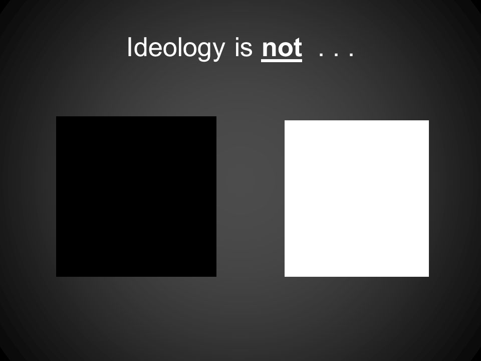 Ideology is not...