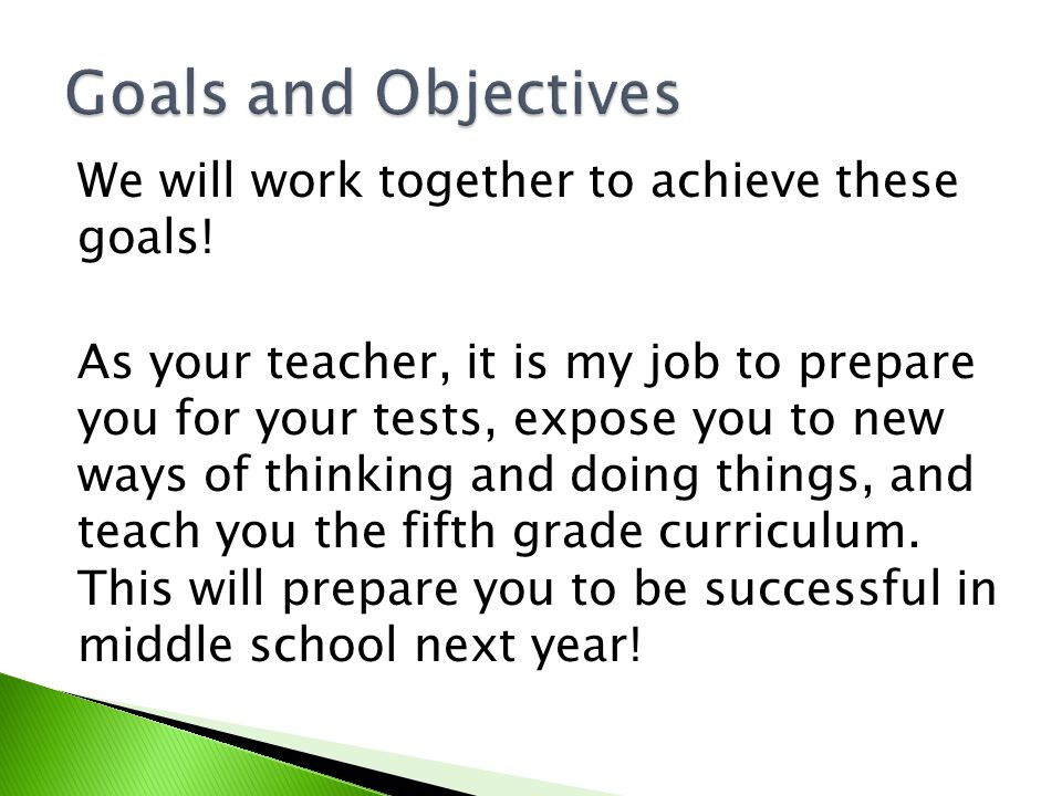 We will work together to achieve these goals.