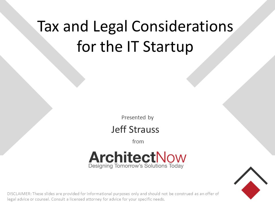Quick Bio (aka Who is this guy? ) Jeff Strauss VP of ArchitectNow in St.