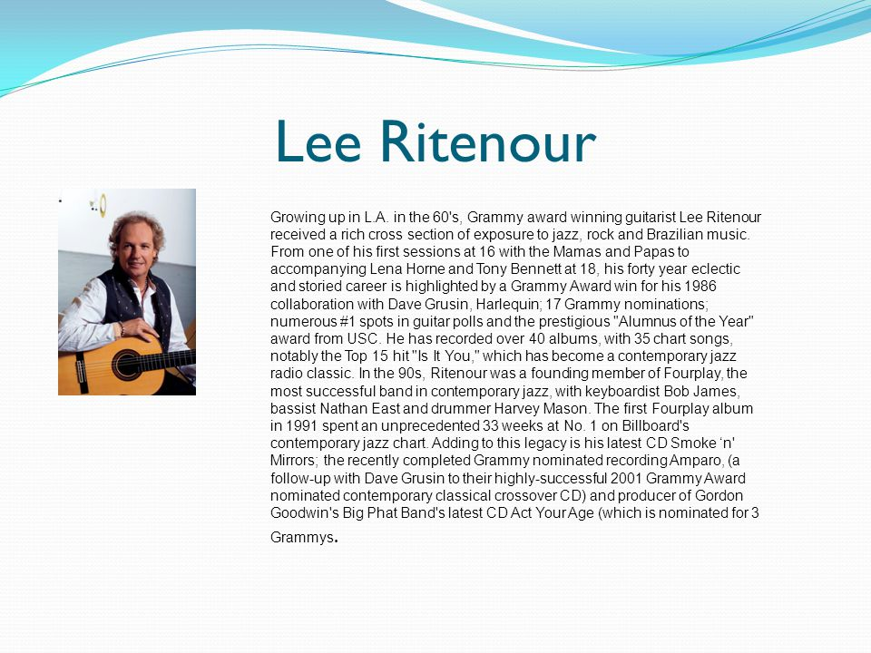 Lee Ritenour Growing up in L.A.
