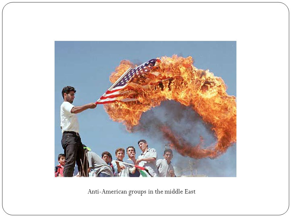 Anti-American groups in the middle East