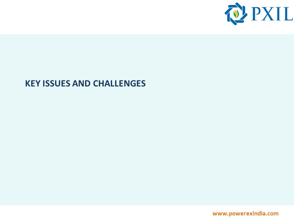 www.powerexindia.com KEY ISSUES AND CHALLENGES