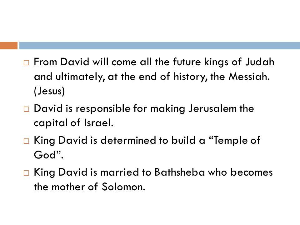KING SOLOMON  Son of David and Bathsheba.