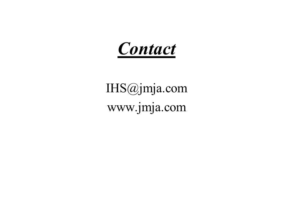 Contact IHS@jmja.com www.jmja.com