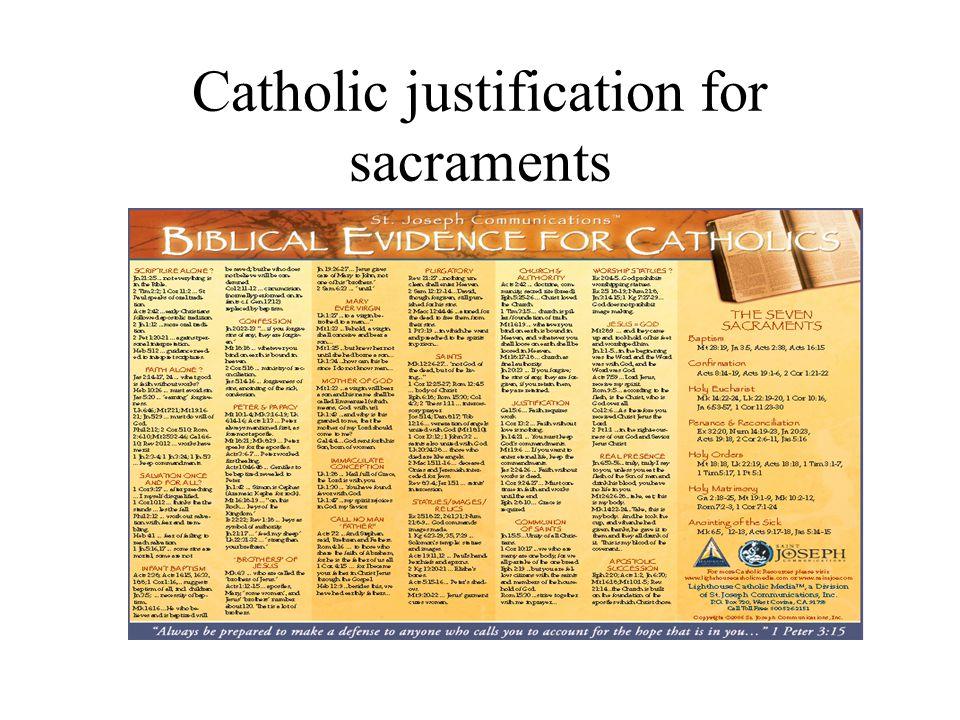 Catholic justification for sacraments