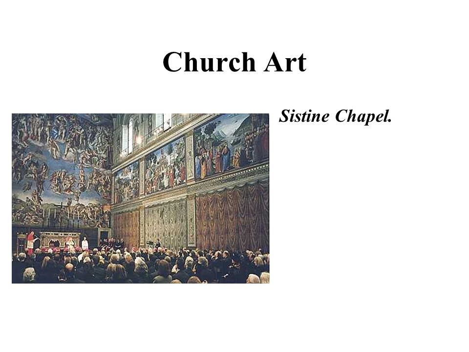 Church Art Sistine Chapel.