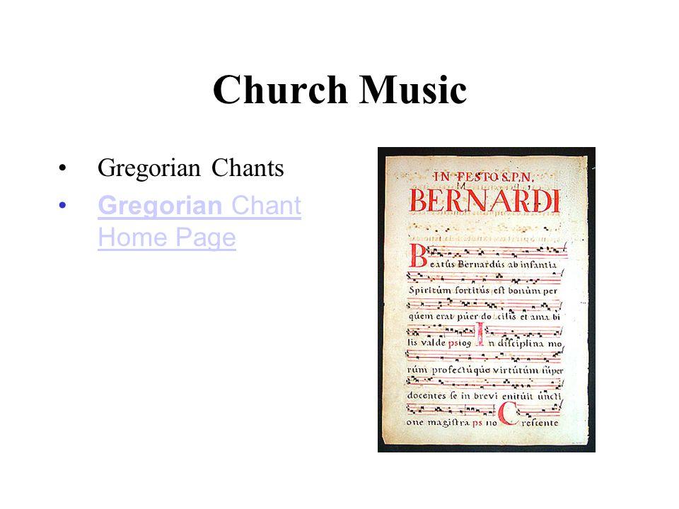 Church Music Gregorian Chants Gregorian Chant Home PageGregorian Chant Home Page