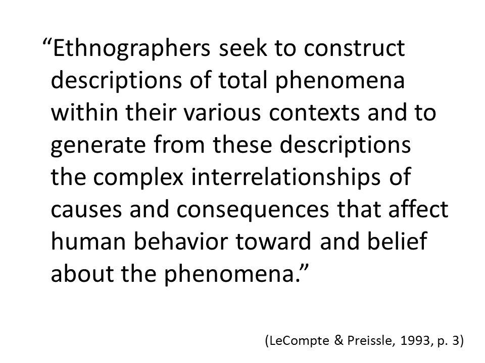 (LeCompte & Preissle, 1993, p.