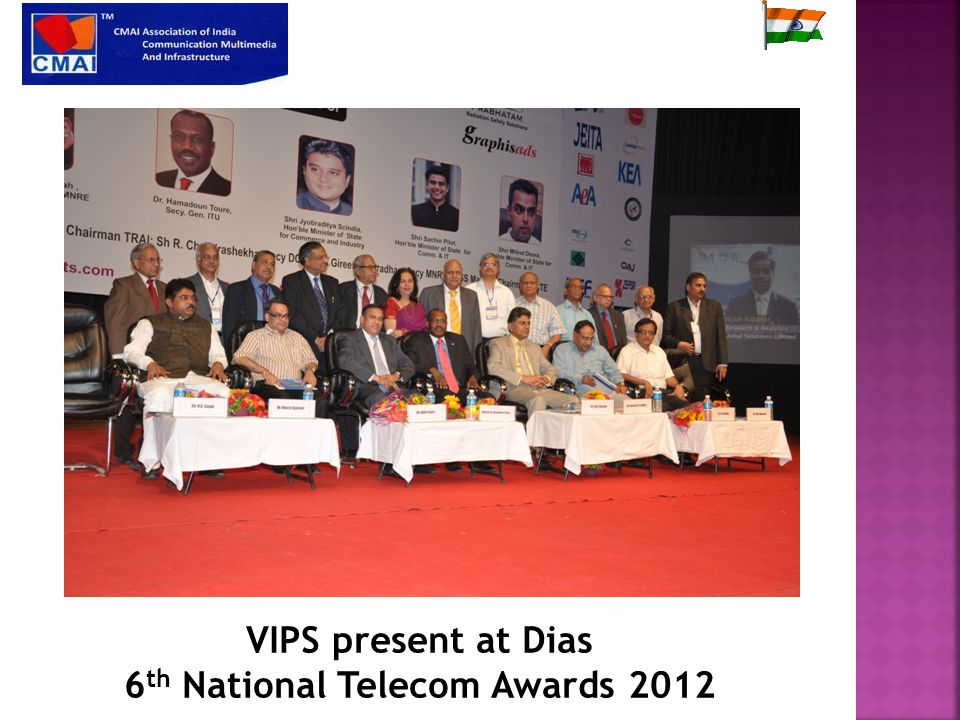 VIPS present at Dias 6 th National Telecom Awards 2012