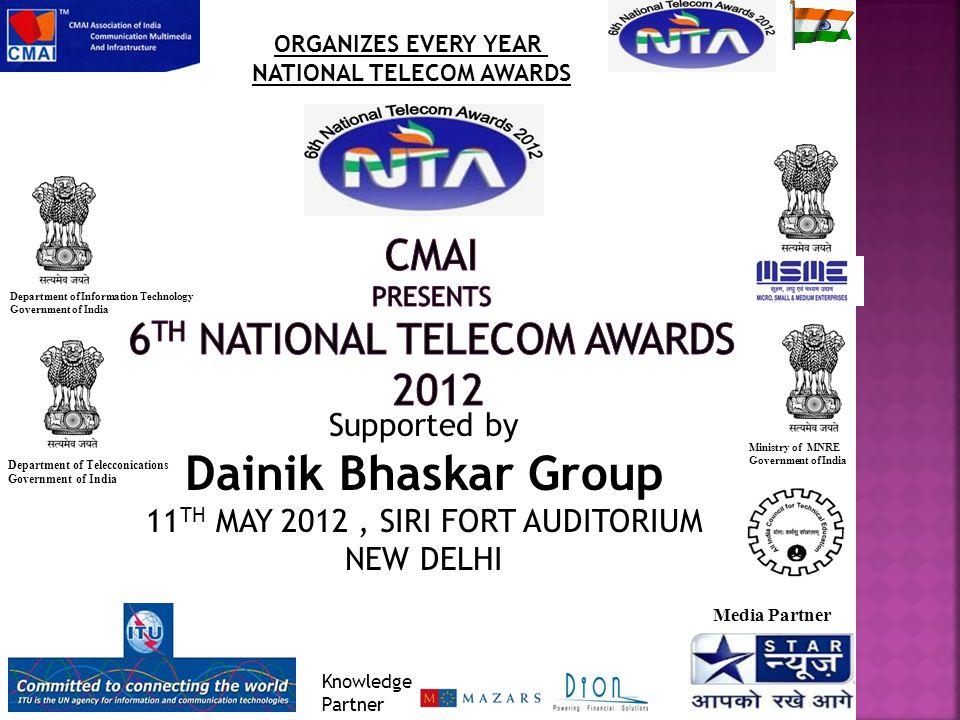 EDUCATION Awards Presented At 6 th National Telecom Awards on 8 th May 2012