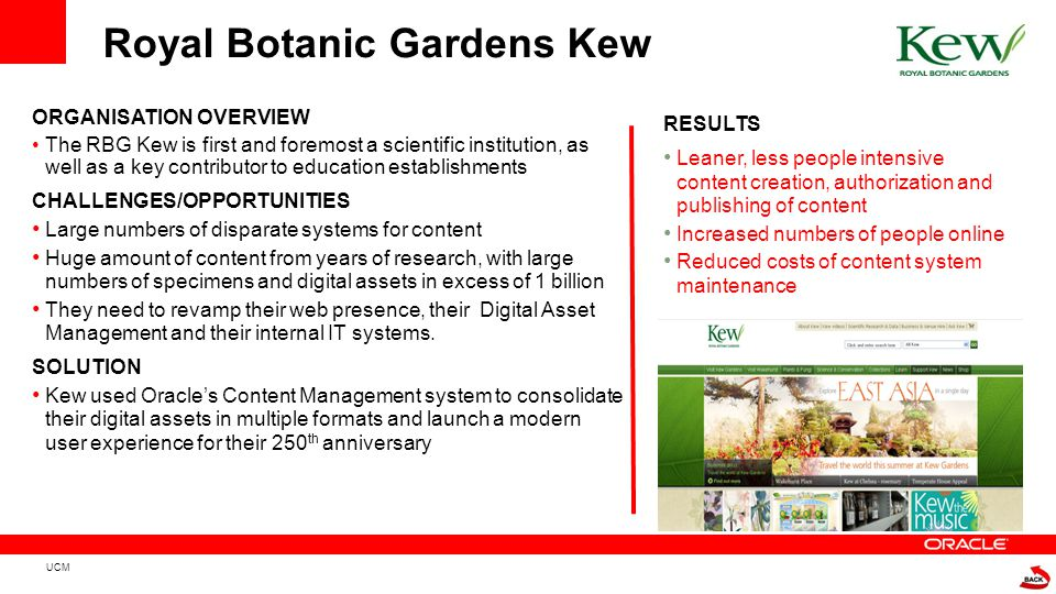 ORGANISATION OVERVIEW The RBG Kew is first and foremost a scientific institution, as well as a key contributor to education establishments CHALLENGES/