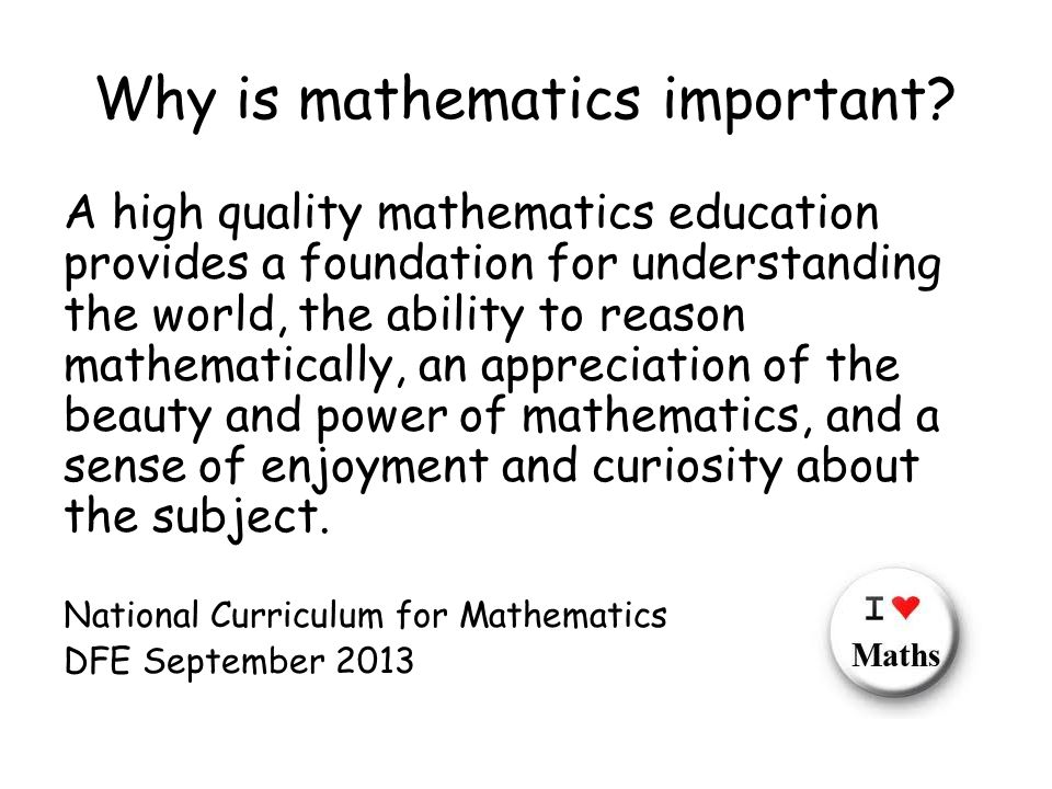 Why is mathematics important.