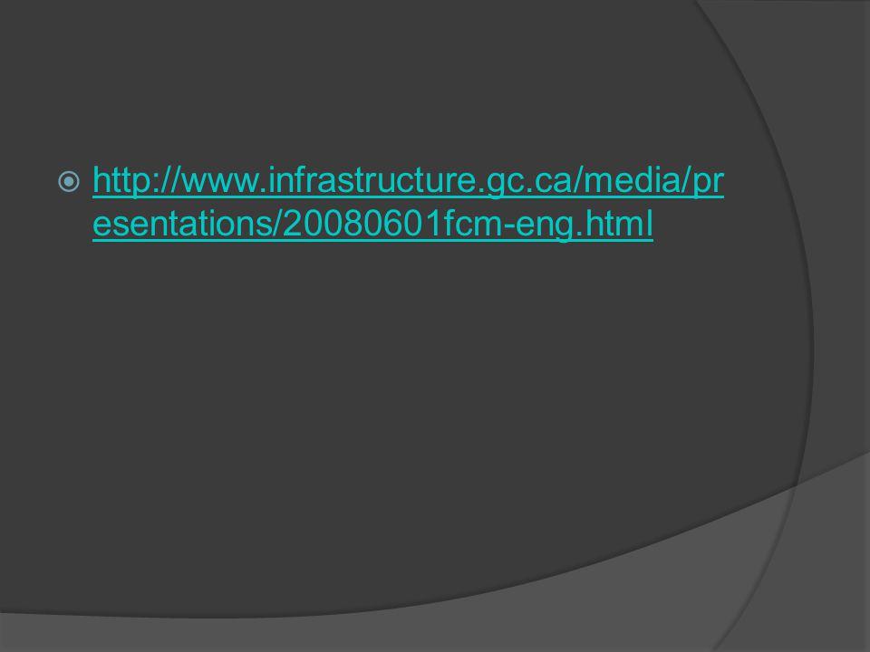  http://www.infrastructure.gc.ca/media/pr esentations/20080601fcm-eng.html http://www.infrastructure.gc.ca/media/pr esentations/20080601fcm-eng.html