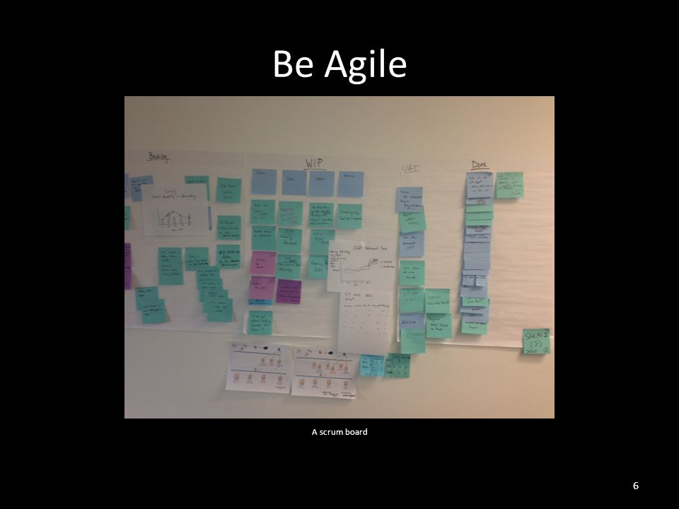 Be Agile 6 A scrum board