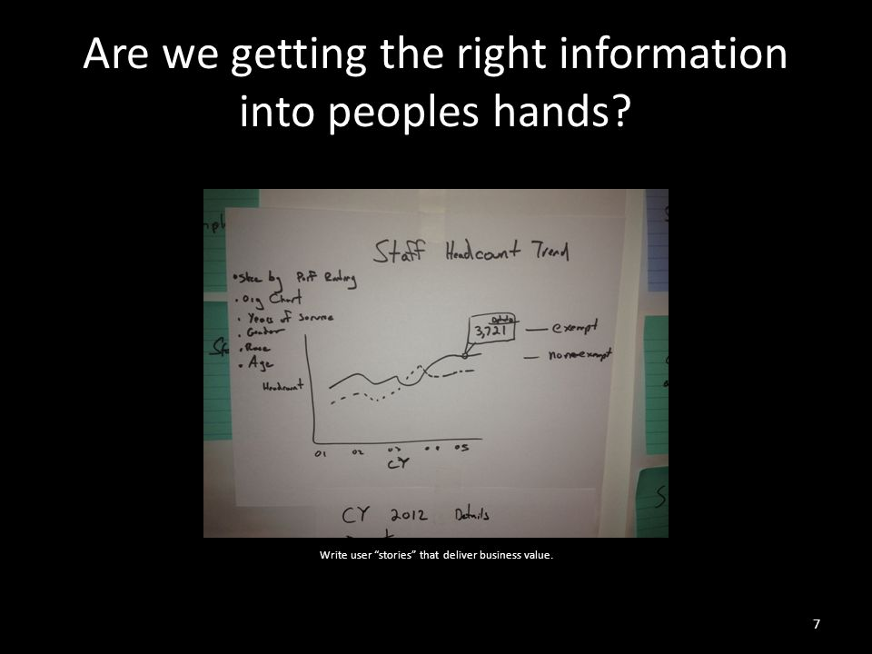 Are we getting the right information into peoples hands.