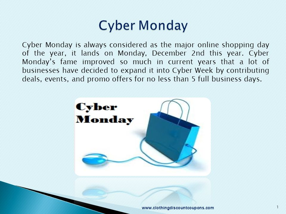 Cyber Monday is always considered as the major online shopping day of the year, it lands on Monday, December 2nd this year. Cyber Monday's fame improv