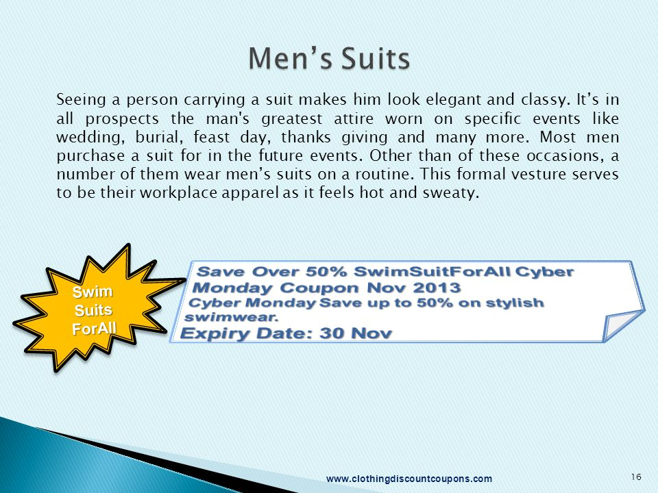 Seeing a person carrying a suit makes him look elegant and classy. It's in all prospects the man's greatest attire worn on specific events like weddin