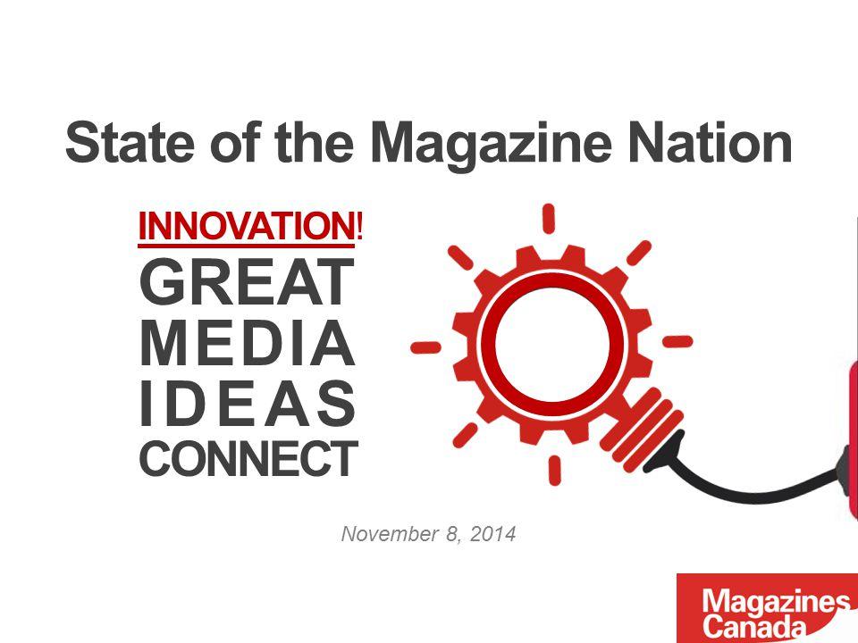 80% of digital magazine readers read print magazines Source: Print Measurement Bureau (PMB), Fall 2014