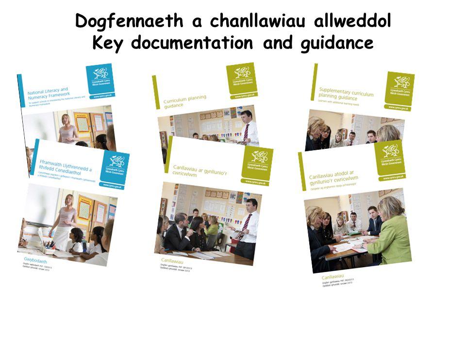 Dogfennaeth a chanllawiau allweddol Key documentation and guidance