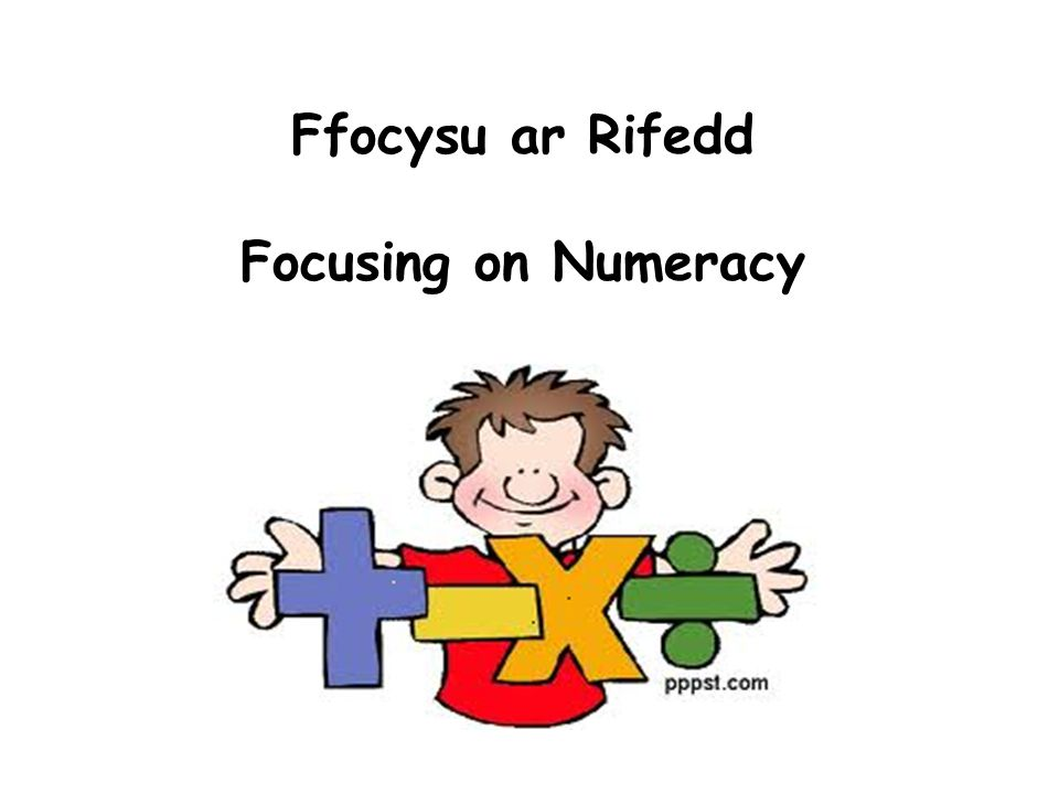 Ffocysu ar Rifedd Focusing on Numeracy