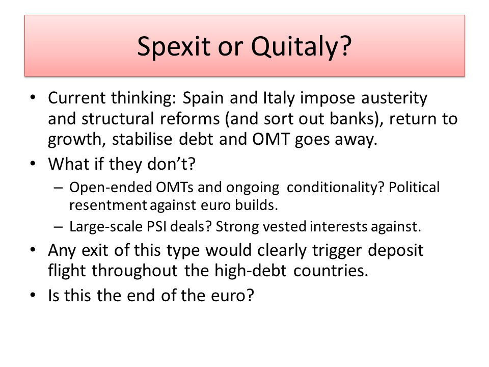 Spexit or Quitaly.