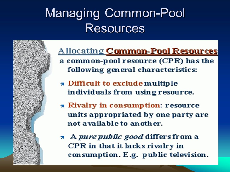 Managing Common-Pool Resources