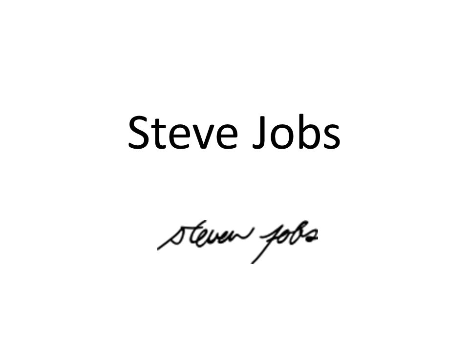 Steven Paul Jobs (February 24, 1955 – October 5, 2011) He was an American businessman and inventor widely recognized as a charismatic pioneer of the personal computer revolution.