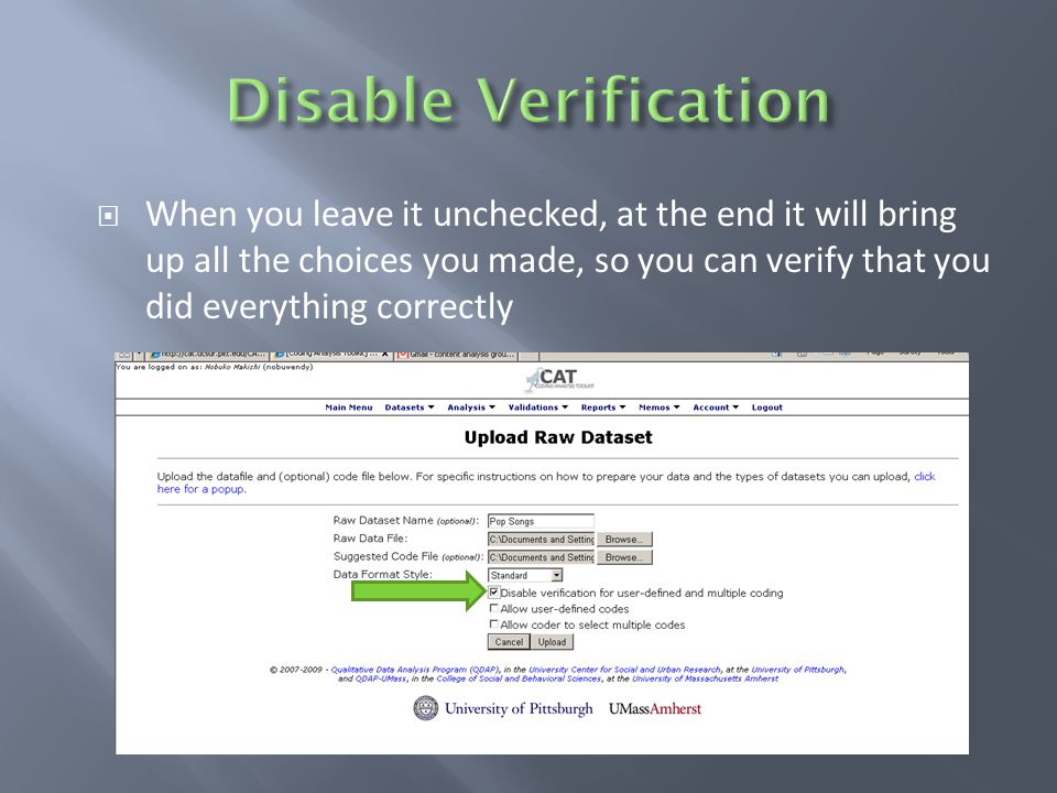  When you leave it unchecked, at the end it will bring up all the choices you made, so you can verify that you did everything correctly