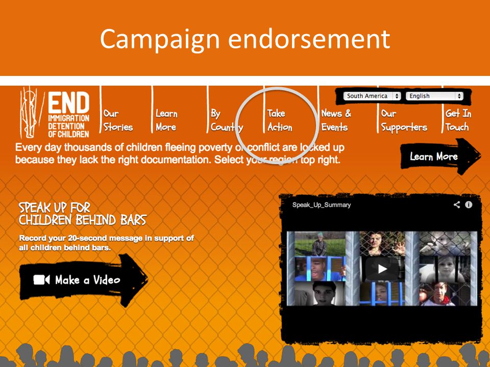 Campaign endorsement