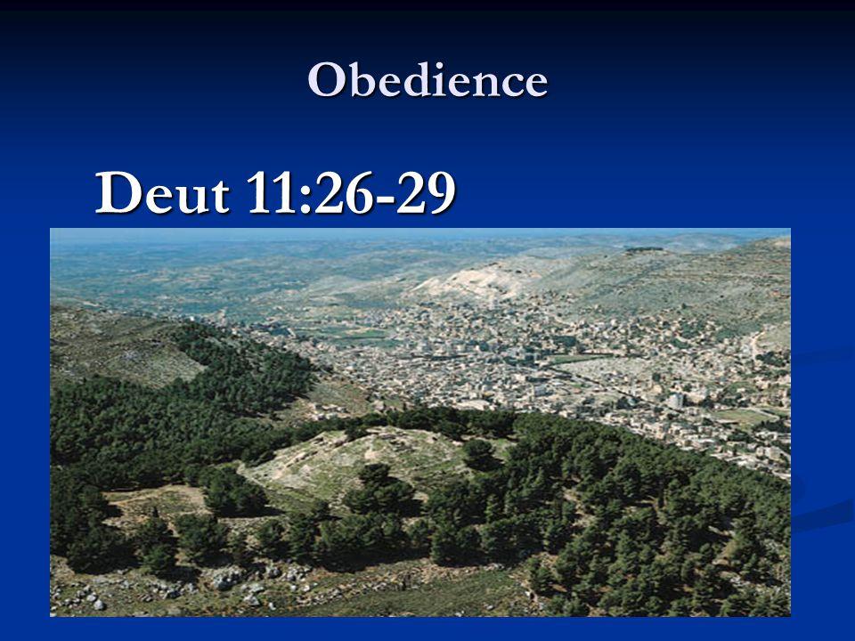 Obedience Deut 11:26-29