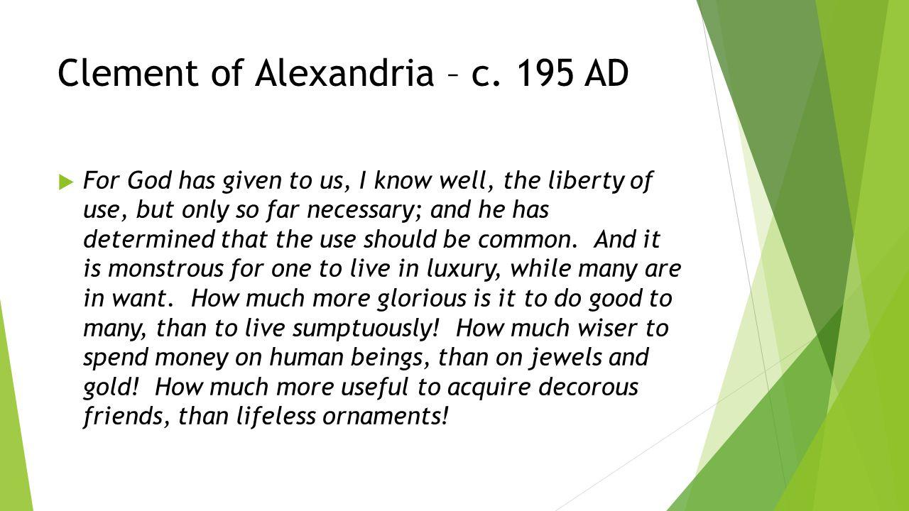 Clement of Alexandria – c.