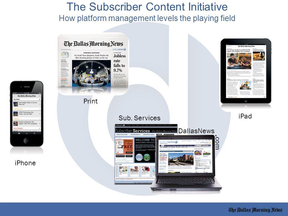 Print iPad iPhone Sub. Services DallasNews.